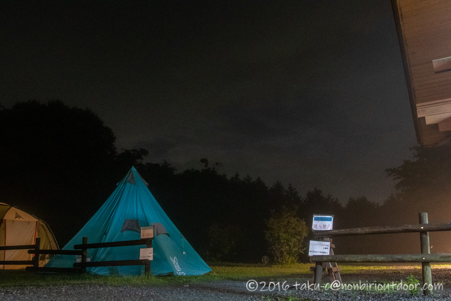 ときがわ町の星と緑の創造センターの夜