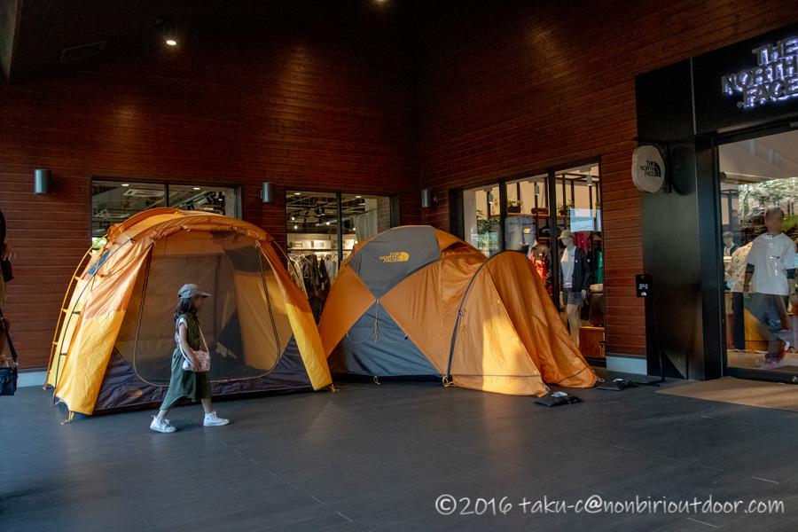 モリパーク アウトドアヴィレッジのNorth Faceにあったテント