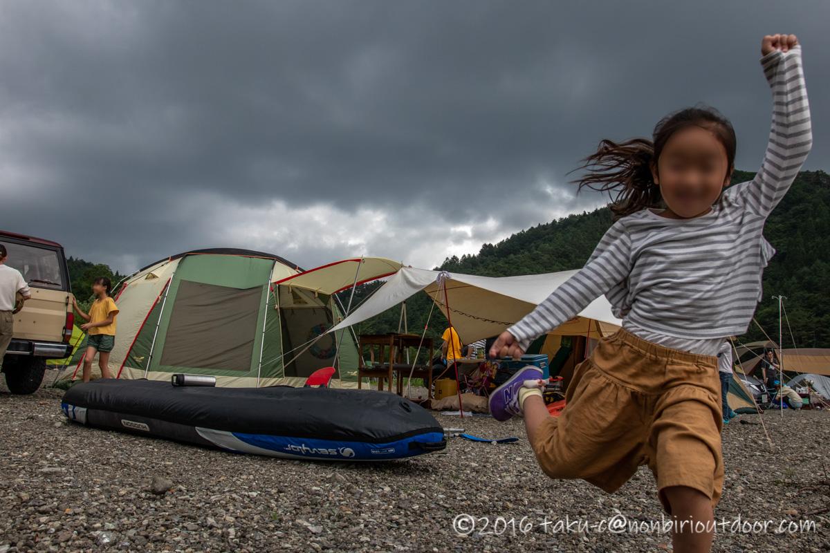西湖・湖畔キャンプ場で雨の日にカヤックキャンプに行ってきました。