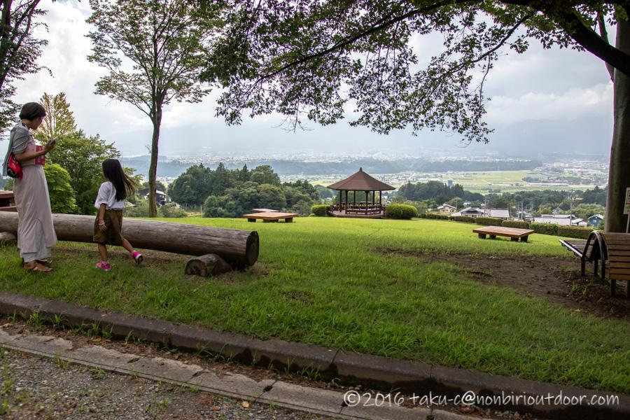 駒ヶ根市ふるさとの丘の眺望
