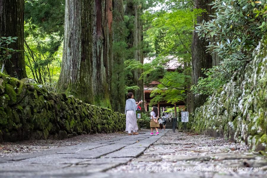 早太郎が眠る光前寺の参道