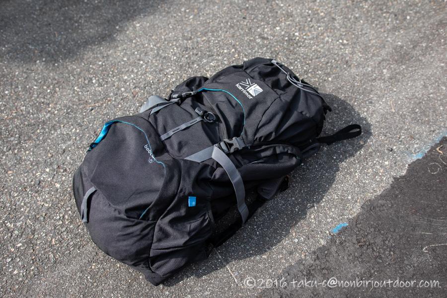 千畳敷カール散策の荷物