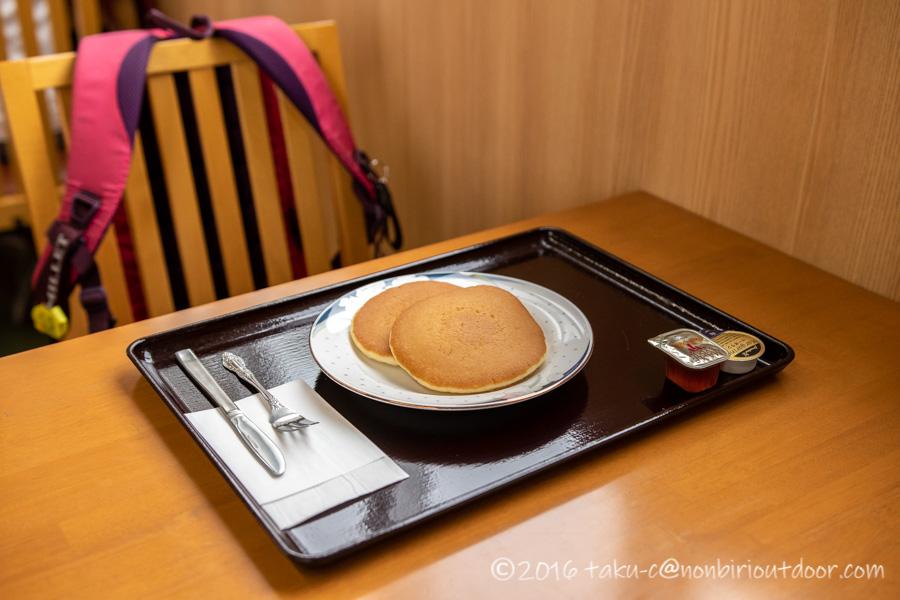 ホテル千畳敷のレストランのパンケーキ