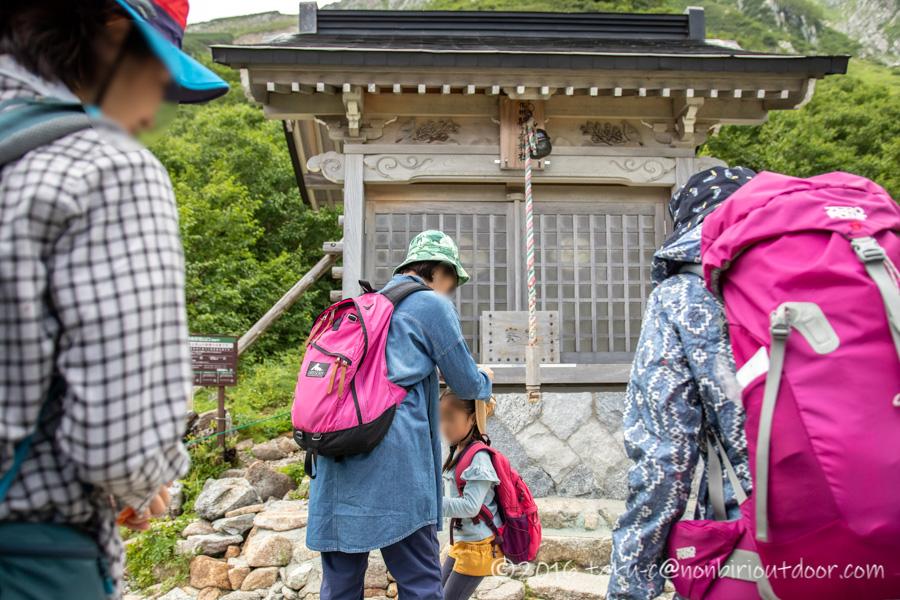 千畳敷カールにある信州駒ヶ岳神社