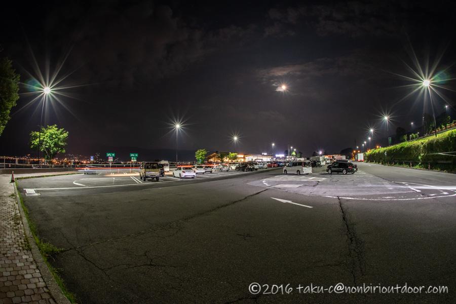 諏訪湖サービスエリアの夜景