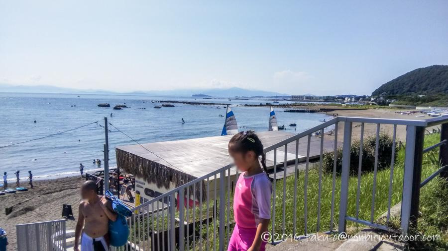 葉山の大浜海岸にSUPをやりに来ました