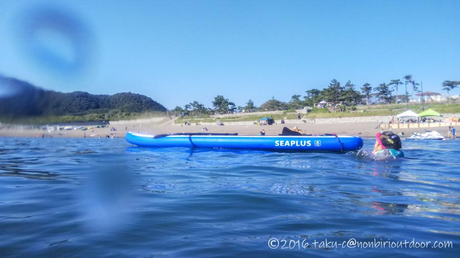 葉山の大浜海岸で初めてのSUPする