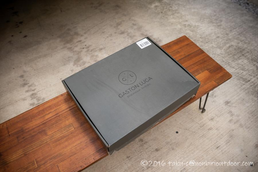 ガストンルーガのクラシックのオリーブ&ブラウンのパッケージ