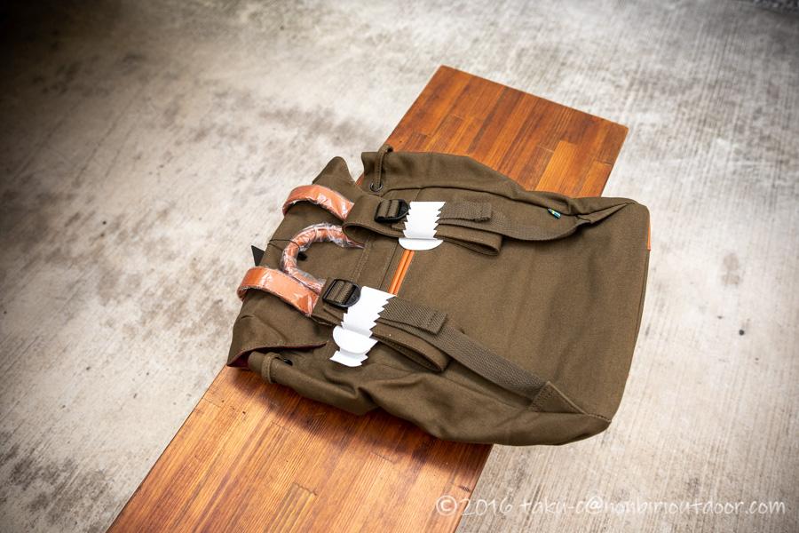 ガストンルーガのクラシックのオリーブ&ブラウンの梱包状態