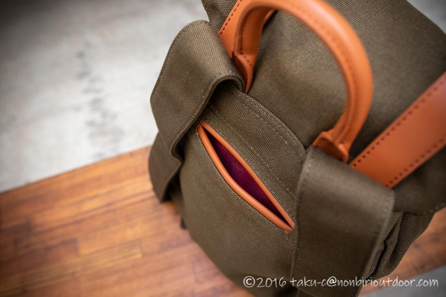 ガストンルーガのクラシックのオリーブ&ブラウンの後ろポケット