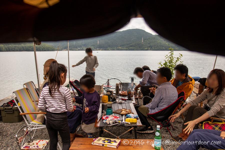 青木湖でカヤック・SUPグルキャンのお昼