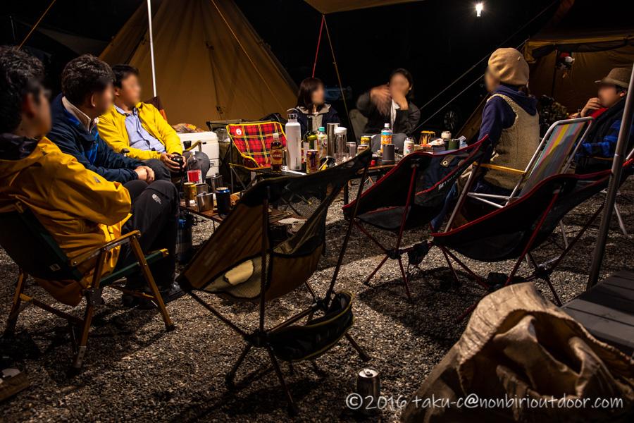 青木湖でカヤック・SUPグルキャンの夕飯
