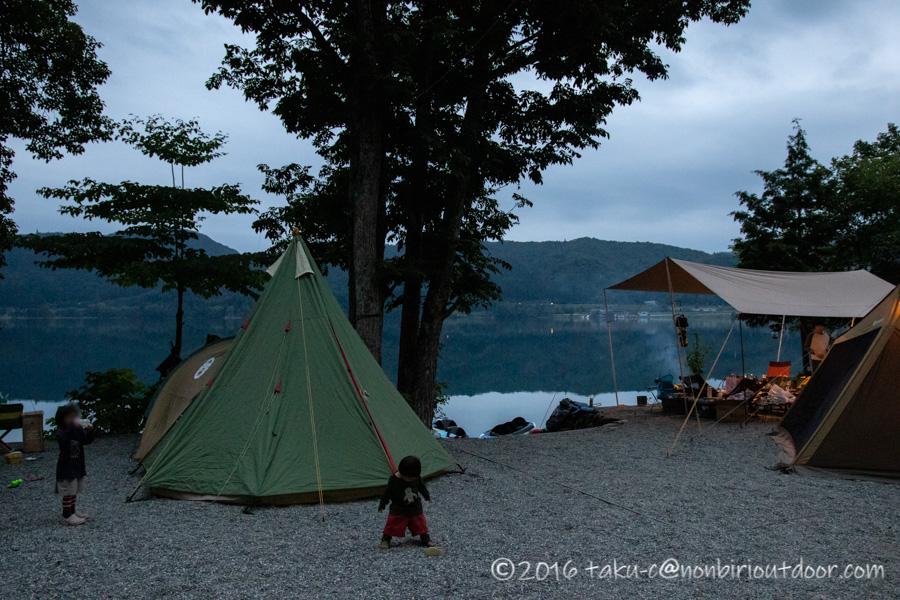 青木湖でSUP・カヤックキャンプの2日目の夕飯