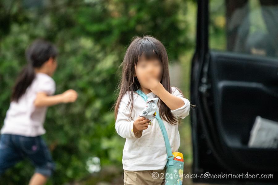 青木湖でのSUP・カヤックキャンプの3日目の子供たち