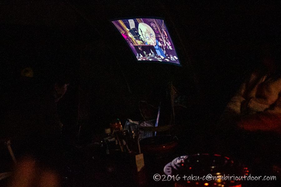 富士山YMCAでプロジェクターで映画鑑賞