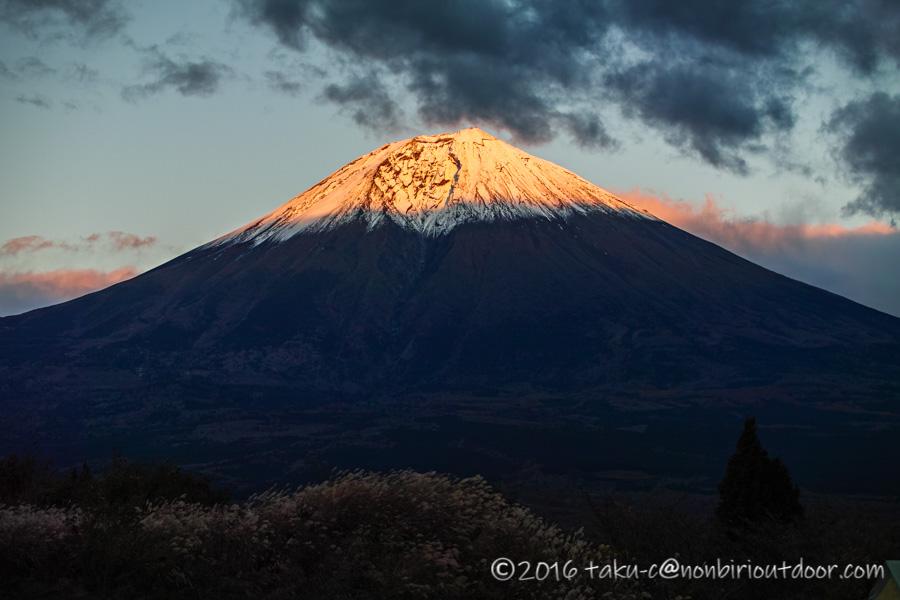 富士山YMCAからの富士山の夕焼け