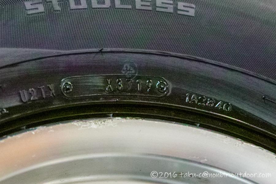 78プラドに取り付けたWINTER MAXX SJ8の製造年月日