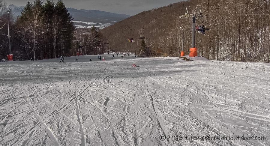 娘の初スキーに行ったシャトレーゼスキーリゾート八ヶ岳のバレー1コース