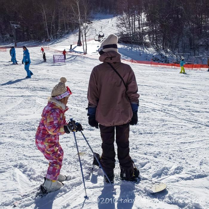 シャトレーゼスキーリゾート八ヶ岳で初スキーを楽しむ