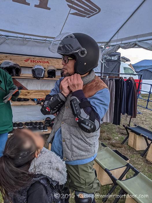 GO OUT CAMP 冬 2019 でホンダカブに試乗してみる