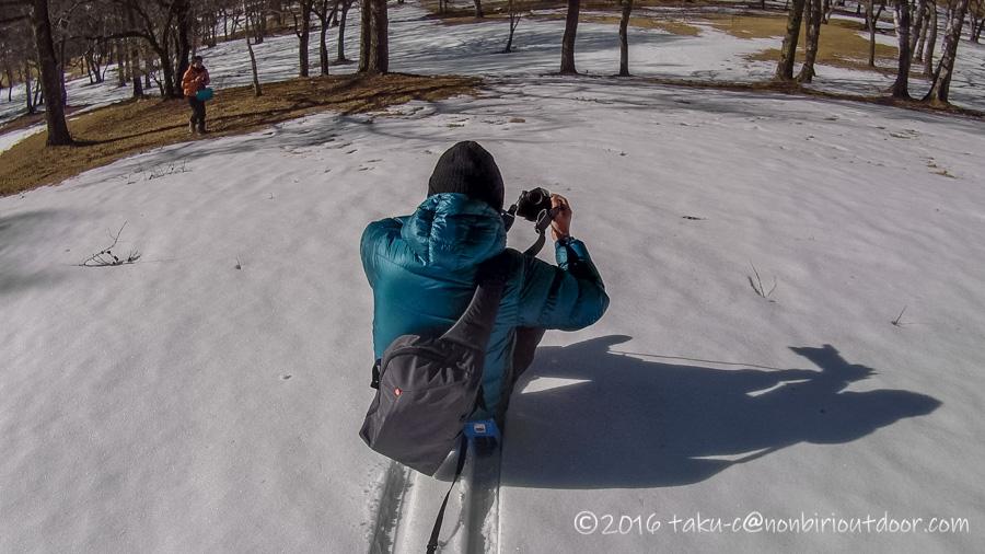 五光牧場オートキャンプ場で行われたおっさん雪中キャンプの時のソリ(zipfy)