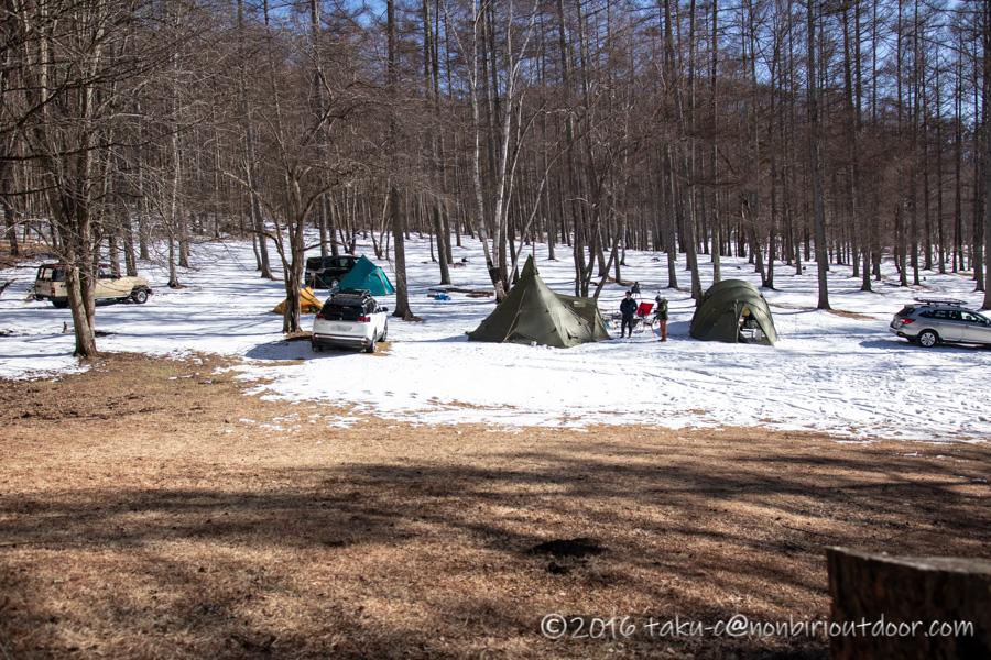 おっさん雪中キャンプのサイト全体