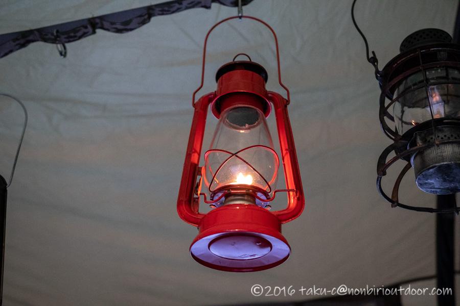 おっさん雪中キャンプの時のオイルランプのWinged Wheel