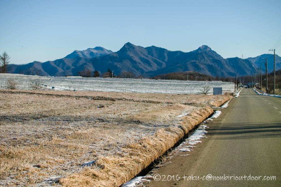 おっさん雪中キャンプへ五光牧場オートキャンプの途中の野辺山