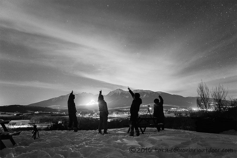 五光牧場オートキャンプ場で行われた2019年のおっさん雪中キャンプの様子