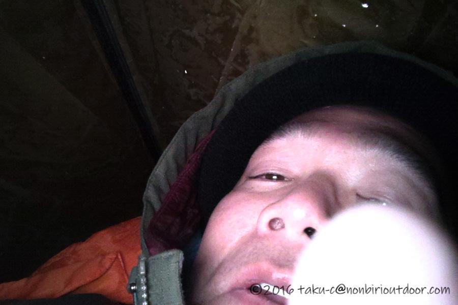 マイナス11度の極寒の五光牧場オートキャンプ場でのテント内