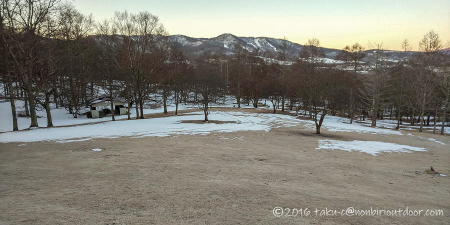 五光牧場オートキャンプ場でのおっさん雪中キャンプの朝