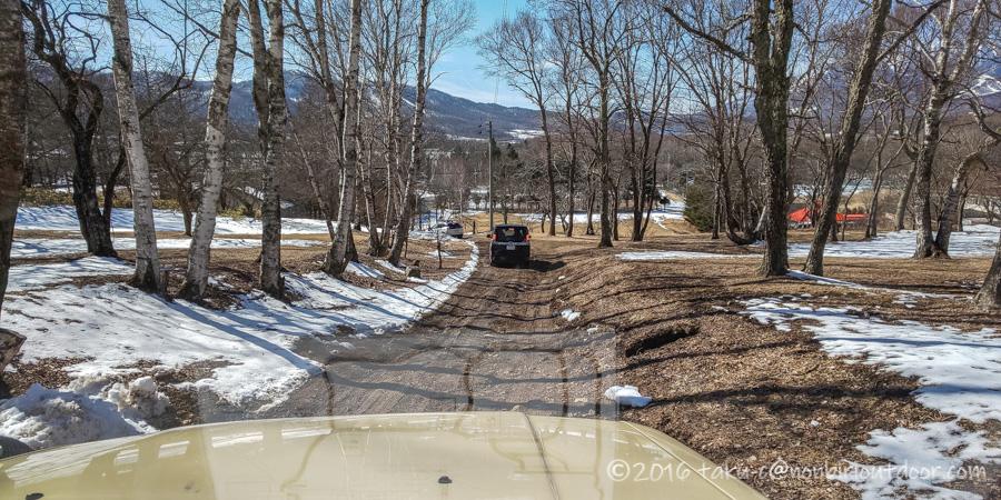 五光牧場オートキャンプ場でのおっさん雪中キャンプも撤収
