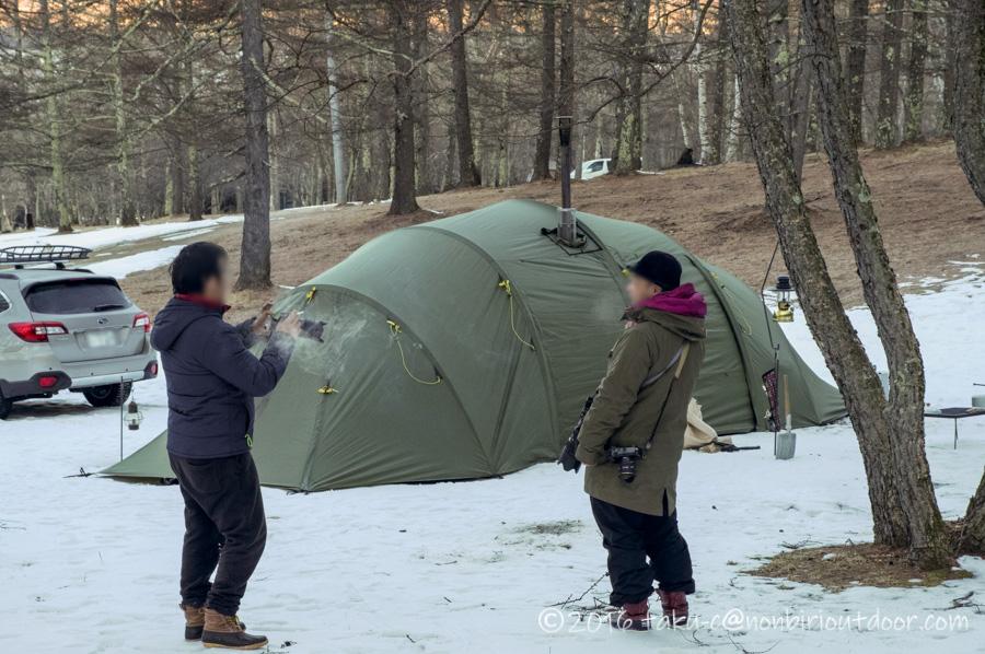 五光牧場オートキャンプ場で朝の八ヶ岳を撮影するその後