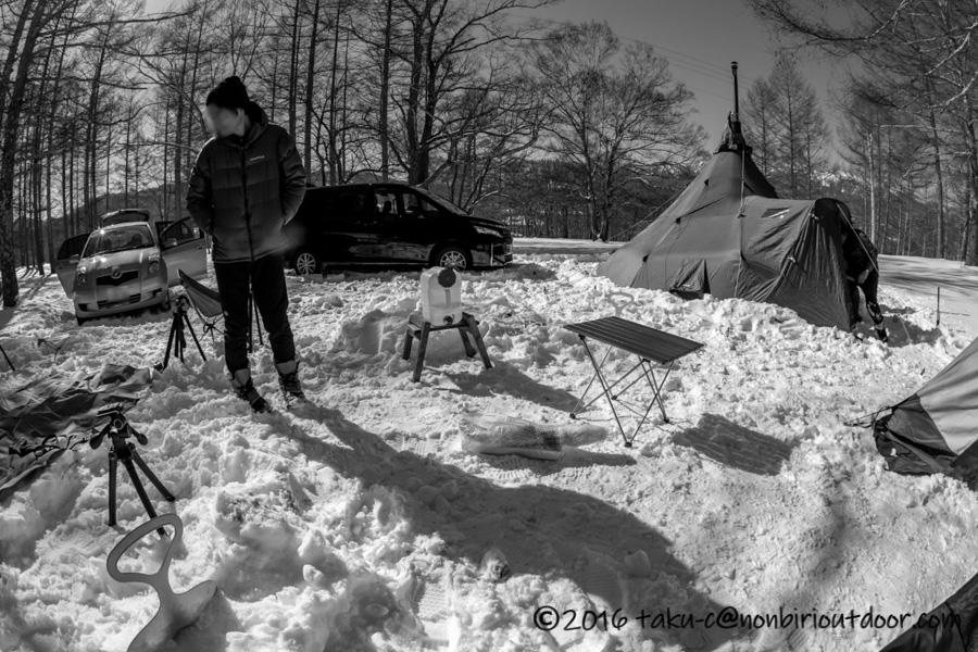 2019おっさん雪中キャンプの様子