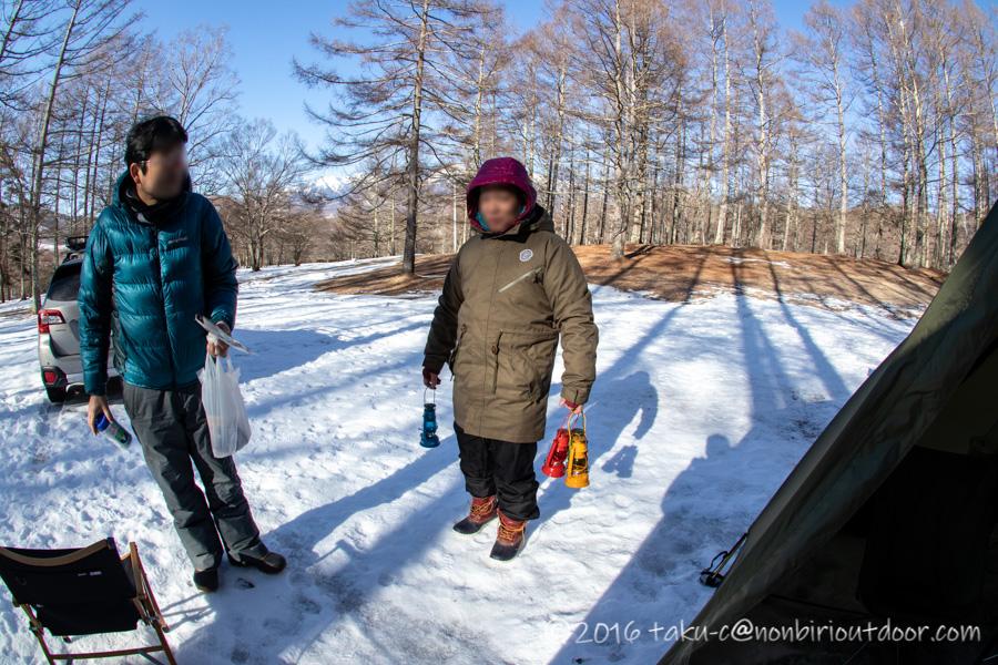 五光牧場オートキャンプ場でのおっさん雪中キャンプの片付け