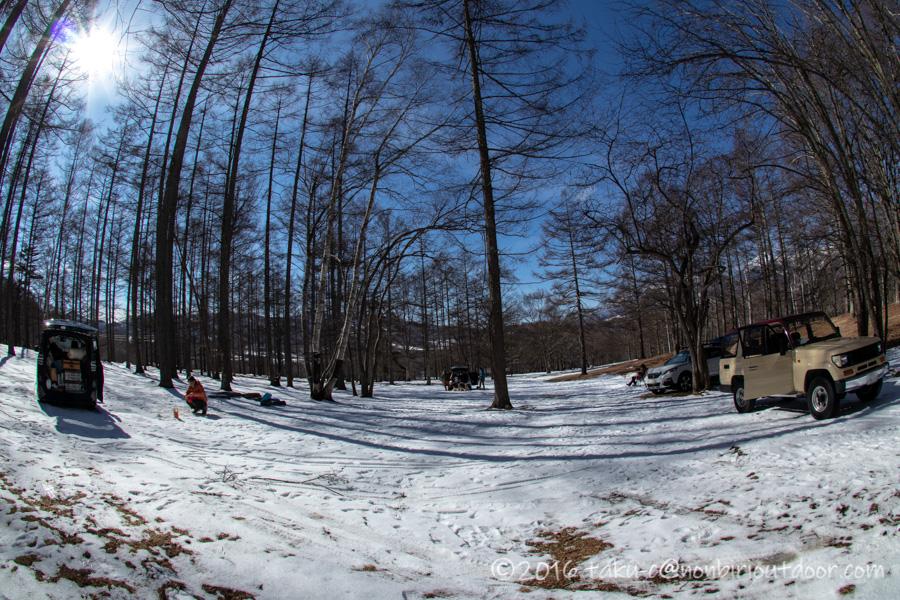 五光牧場オートキャンプ場でのおっさん雪中キャンプの撤収風景