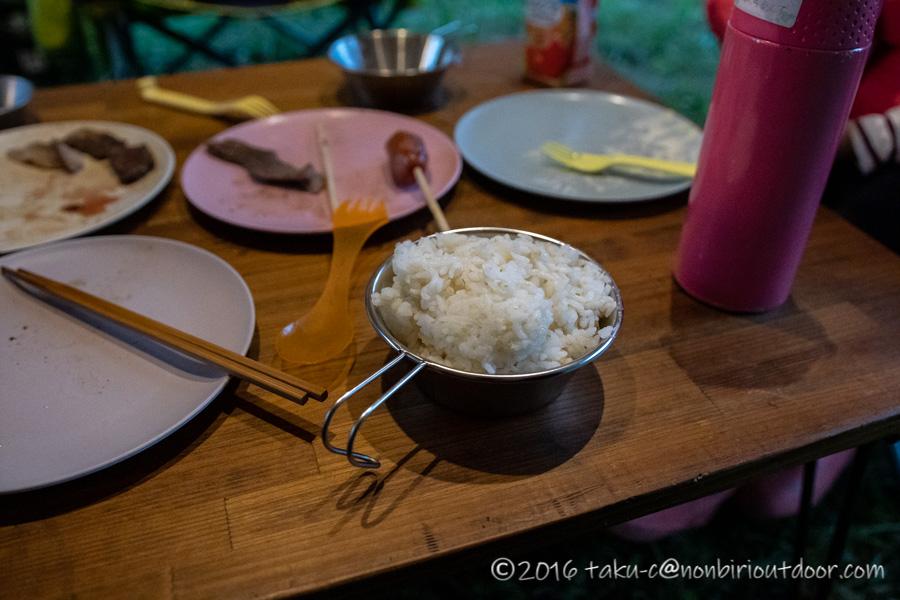 キャンプの米炊きで失敗