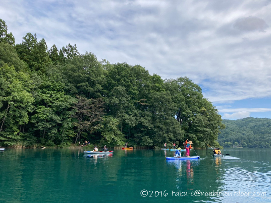 ナチュログ写真部漕艇課のメンバーで青木湖でカヤック、SUPをする