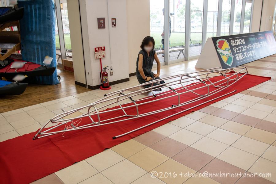 クリアウォーターカヤックスで組み立ててもらったフジタカヌーのアルピナ460
