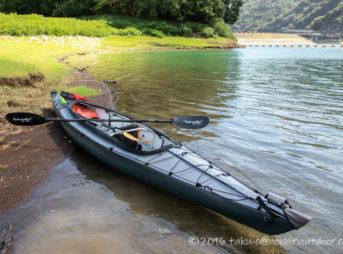 丹沢湖でフジタカヌーのアルピナ460に乗る