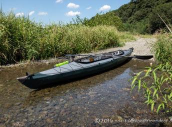 相模川でフジタカヌーのアルピナ460に乗る