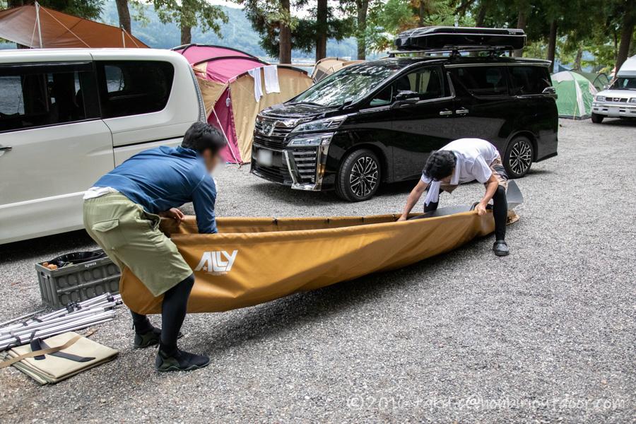 フォールディングカヌーのallyを組み立てる