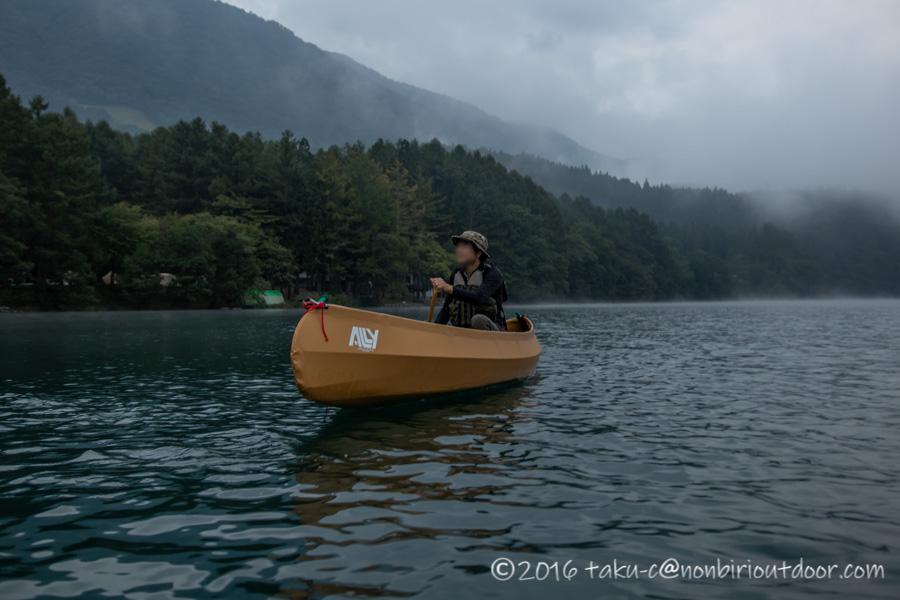 青木湖で早朝カヤック、カヌー