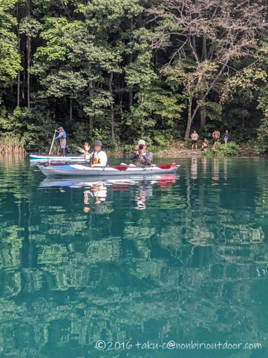 青木湖でフジタカヌーのアルピナ2でカヤックをする