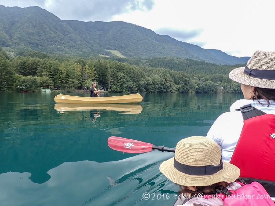 青木湖でallyを漕がせてもらいました