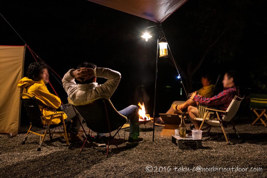 ナチュログ写真部漕艇課キャンプのおっさんの宴会