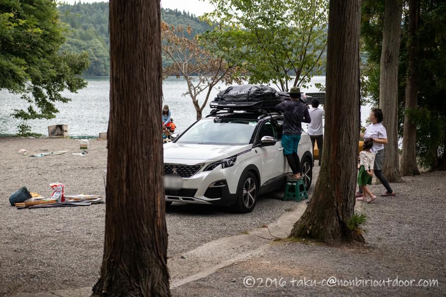 青木荘キャンプ場でのキャンプの撤収