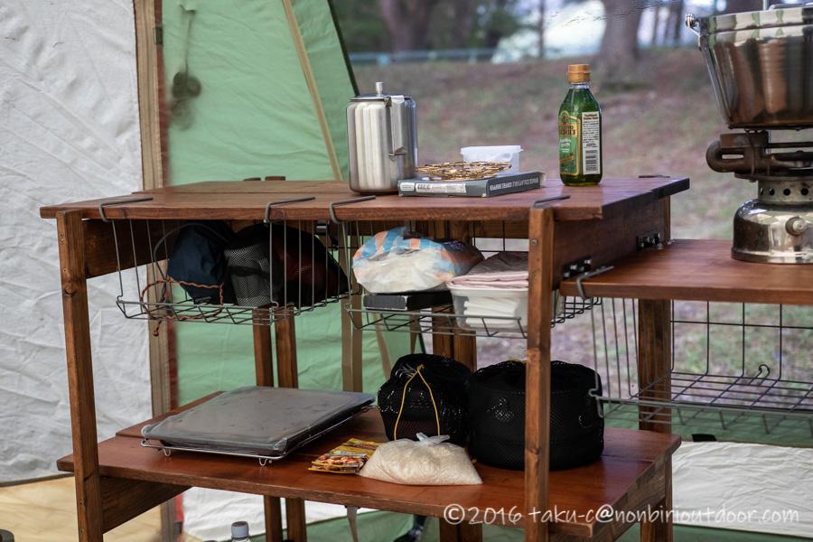 ノースイーグルオクタゴンに設置した自作キッチン