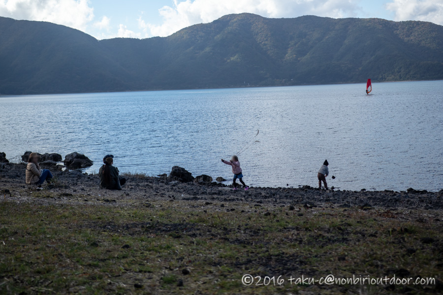 本栖湖で親子でバスフィッシング