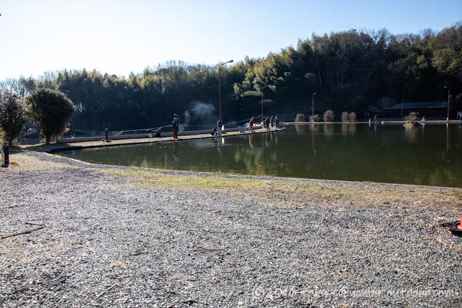 2021年2月3日のFish on 王禅寺のジロー池のフライエリア